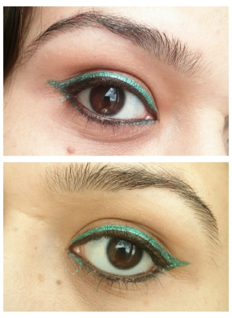 EOTD Black and Green Eyeliner