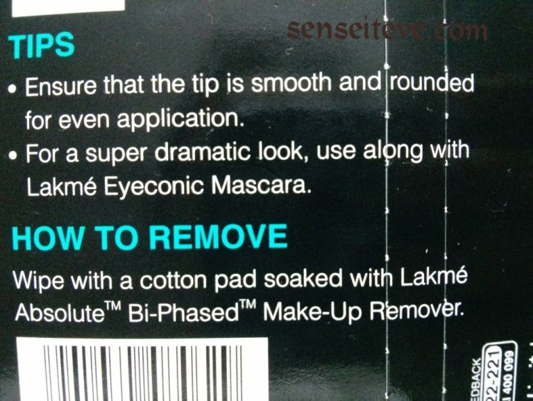 Lakme eyeconic Brown Tips
