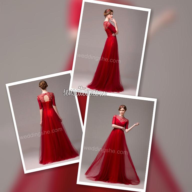 Red Prom Dress_Elegant