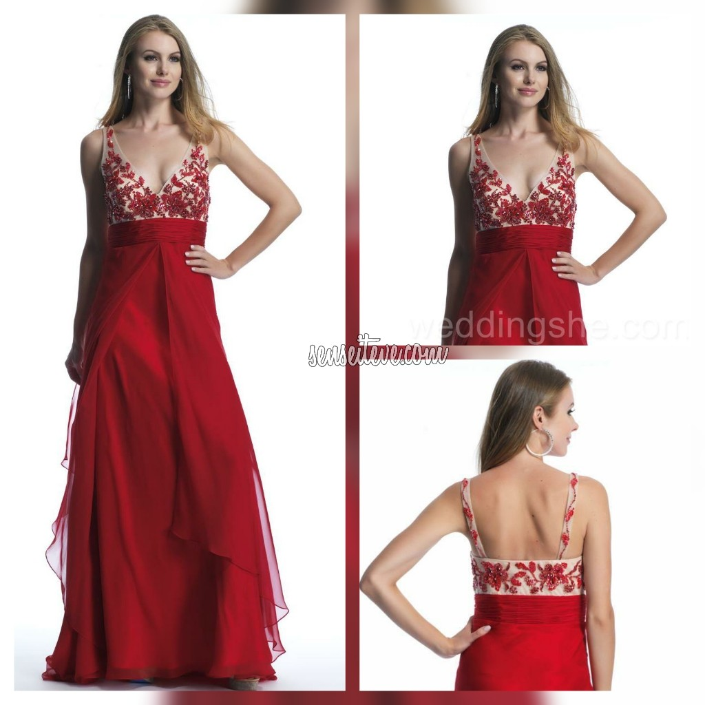 Red Prom Dress_Embriodary Lovers