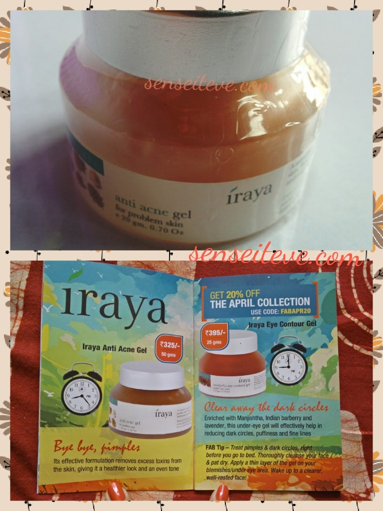 In my Fabbag April 2015_Iraya acne gel