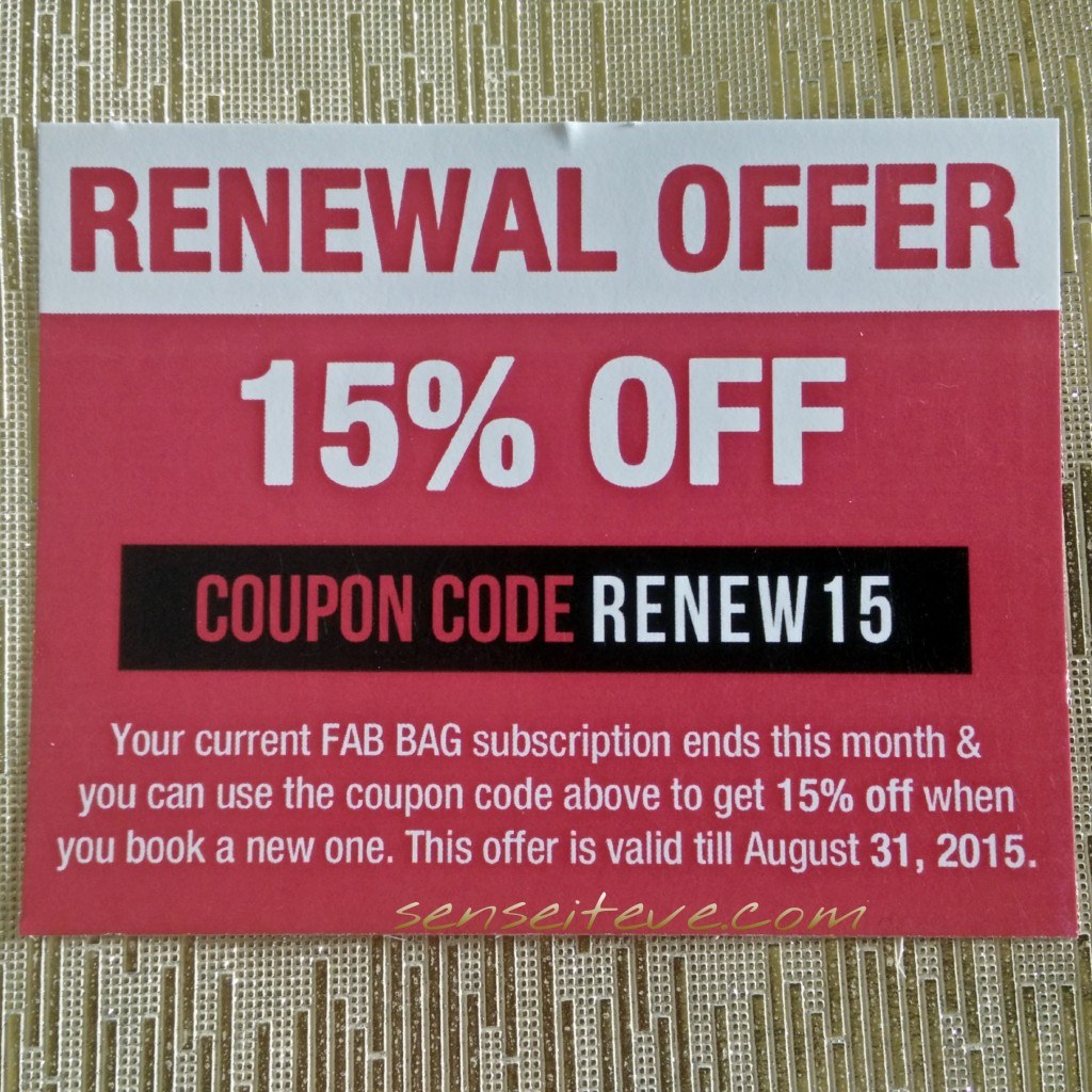 In My Fabbag July 2015-renewal offer
