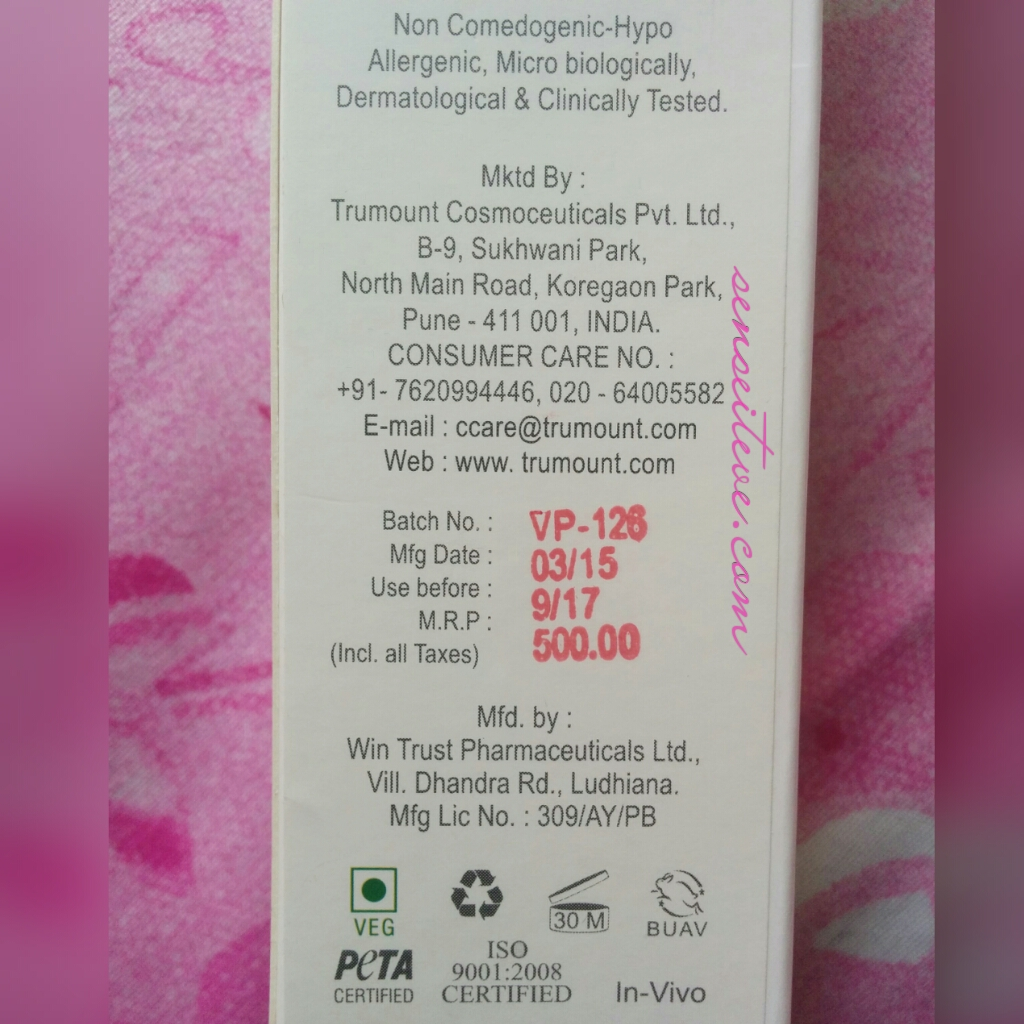 Votre Advance Pore Balancing Cleansor Price, quantity & Shelf-life