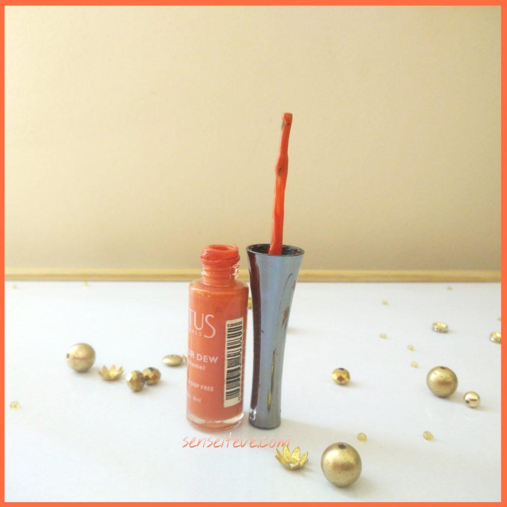 Lotus Herbals Color Dew Nail Enamel Orange Alert 2