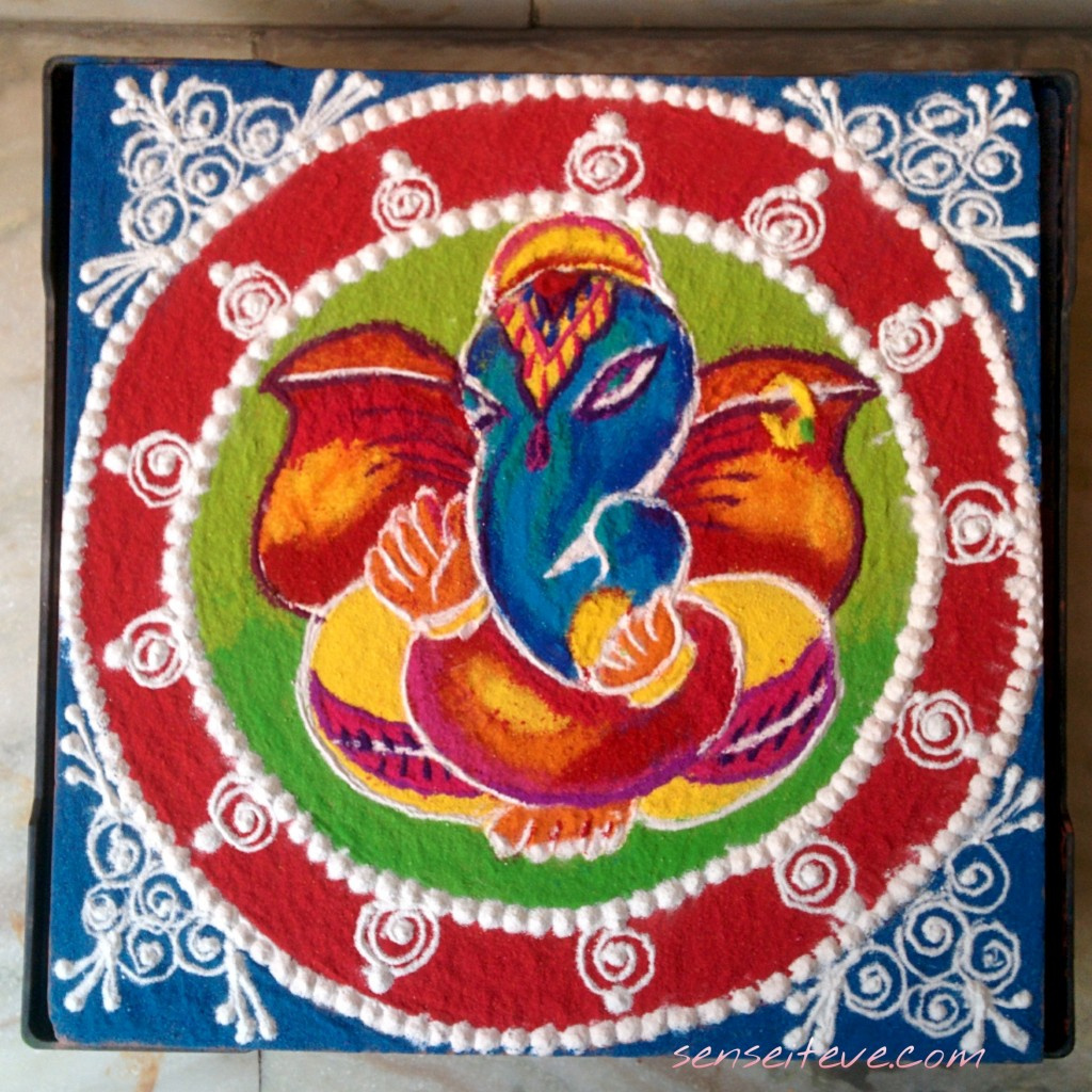 My Diwali 2015 Celebration_Rangoli Made by Me