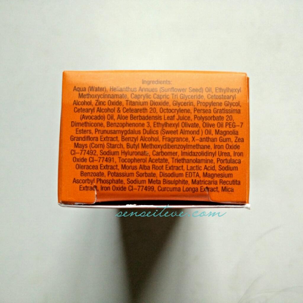 Inveda 8 in 1 BB Cream Ingredients