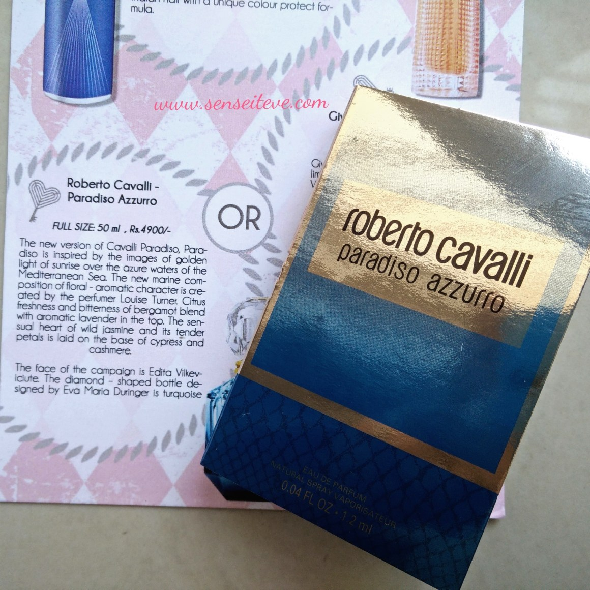 My Envy Box April 2016_Roberto Cavalli Paradiso Azzuru Perfume