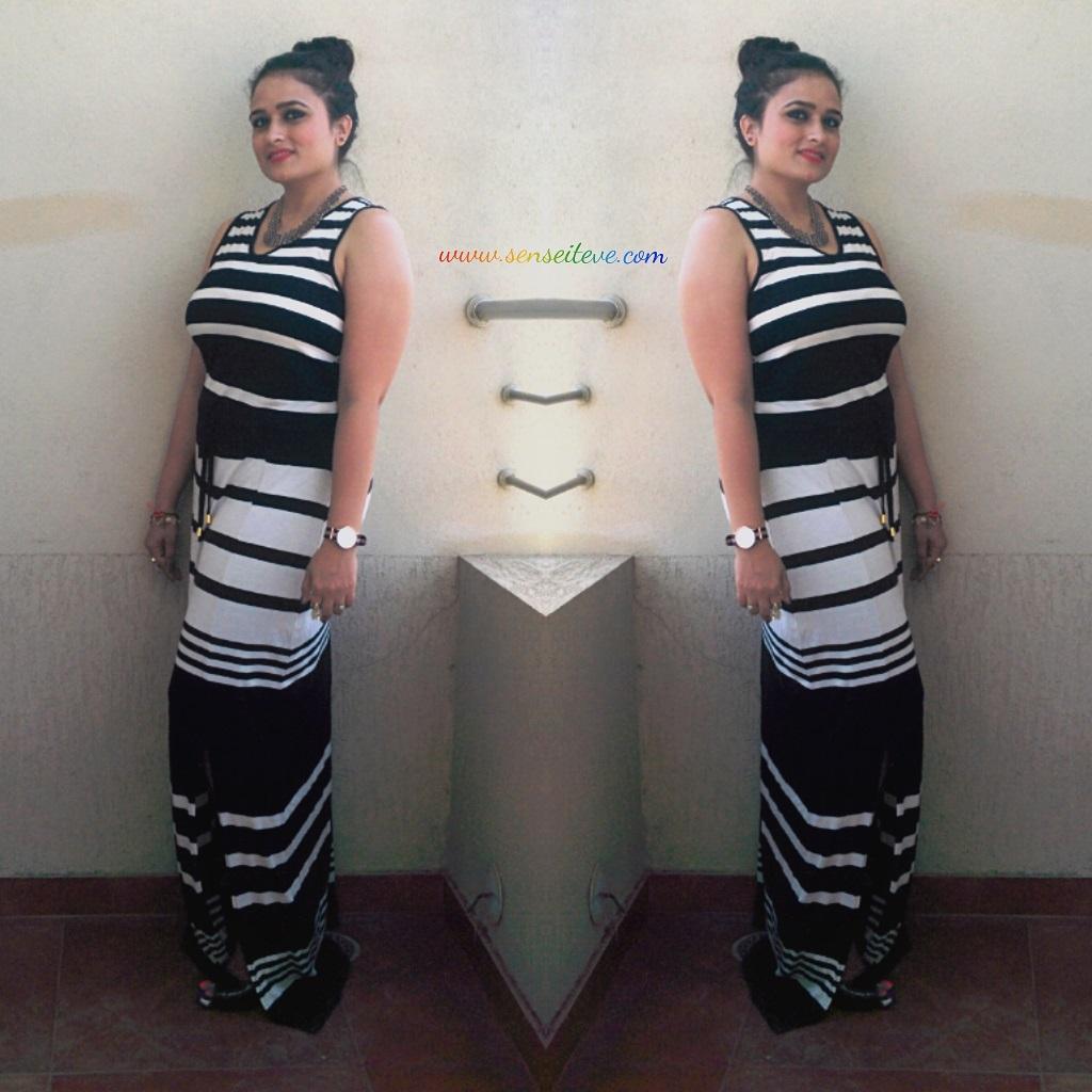 OOTD Monochrome Stripes
