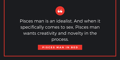 pisces man in bed