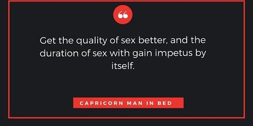 Capricorn man in bed