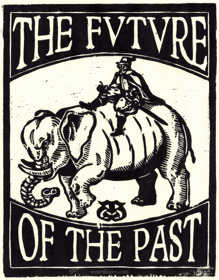 Thomas Coryat riding an elephant woodcut copy for GW MEMSI by senseshaper. You can purchase a print here, or find it on a shirt here.