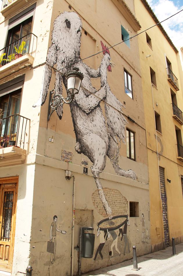 Miss Kaliansky in Valencia eric il cane escif