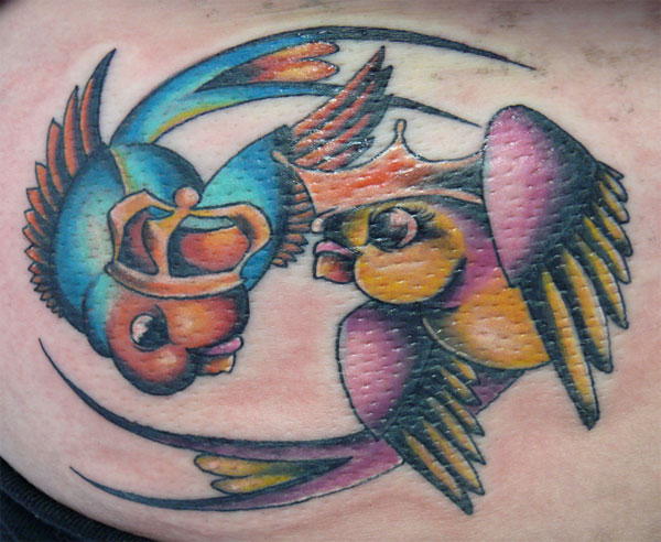 Sparrows Bird Tattoo. For this week's Tattoo Tuesday we've featured a tattoo