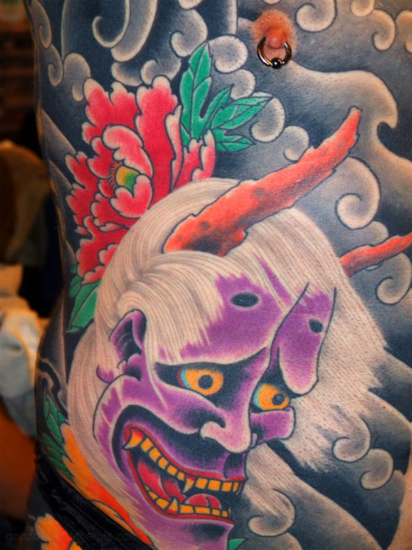 Japanese Demon Tattoos