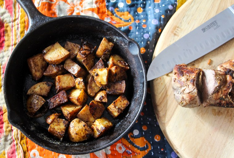 Garam Masala–Brined Pork Loin and Roasted Potatoes