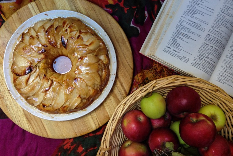 Upside Down Apple-Ricotta Cake