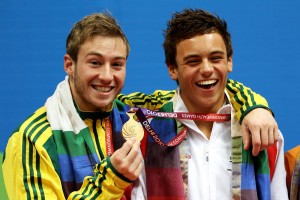 Tom Daly with fellow gay Olympic 2008 diving gold medallist Australian Matthew Micham