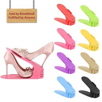 HOWBIFOOL Shoe Slots Organizer Shoe Racks