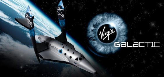 A Poster For The Virgin Galactic Spaceship
