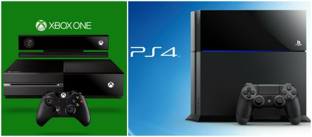 Pictures Of The Xbox One And Playstation 4 Consoles