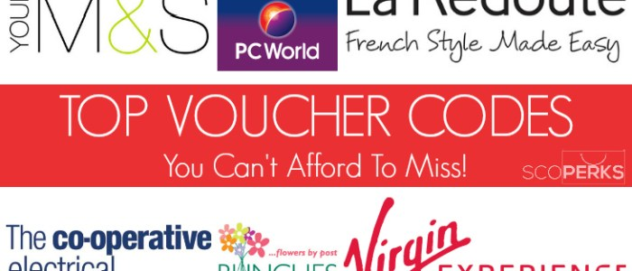Top Voucher Codes You Can't Afford To Miss!