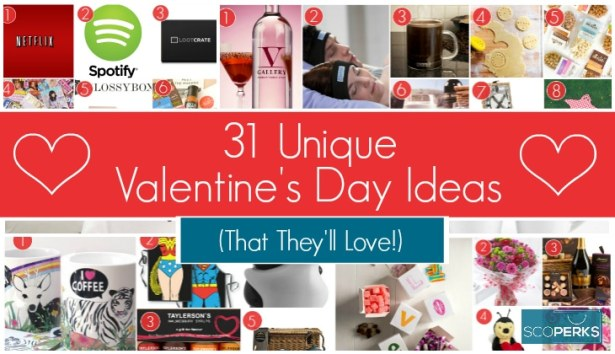 A Collage Of Unique Valentines Day Ideas