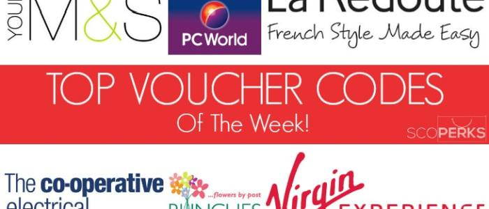 The Top Voucher Codes Of The Week (27th Jan 2015)