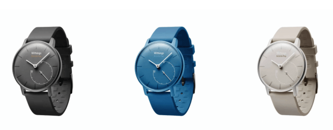 Three Activity Tracking Watches, A Black, Blue And White One