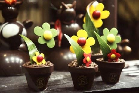 Three Flower Chocolate Pots