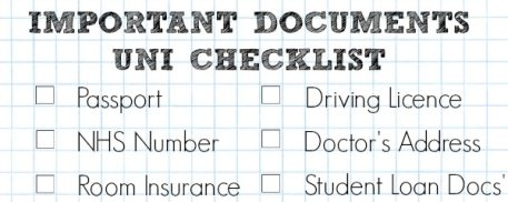 A Cropped Checklist Of Important Documents You'll Need For University