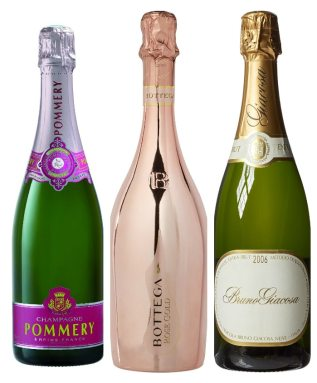 Three Bottles Of Champagne