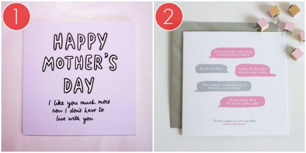 2 Unique And Funny Mother's Day Card Ideas