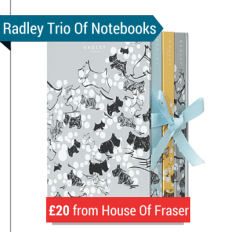 A Hardbacked Case Of 3 Radley Notebooks