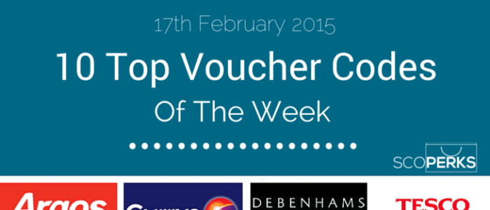 Top Voucher Codes Of The Week (17th Feb 2015)