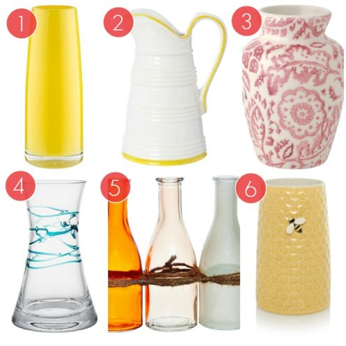 6 Vibrant And Colourful Spring Vases