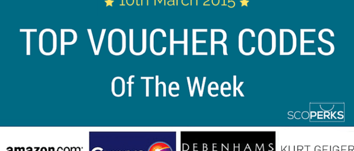 Top Voucher Codes Of The Week (10th March 2015)
