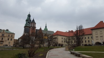 Outside of Wawel Castle and the Cathedral.
