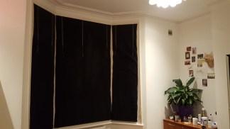 Curtains down.