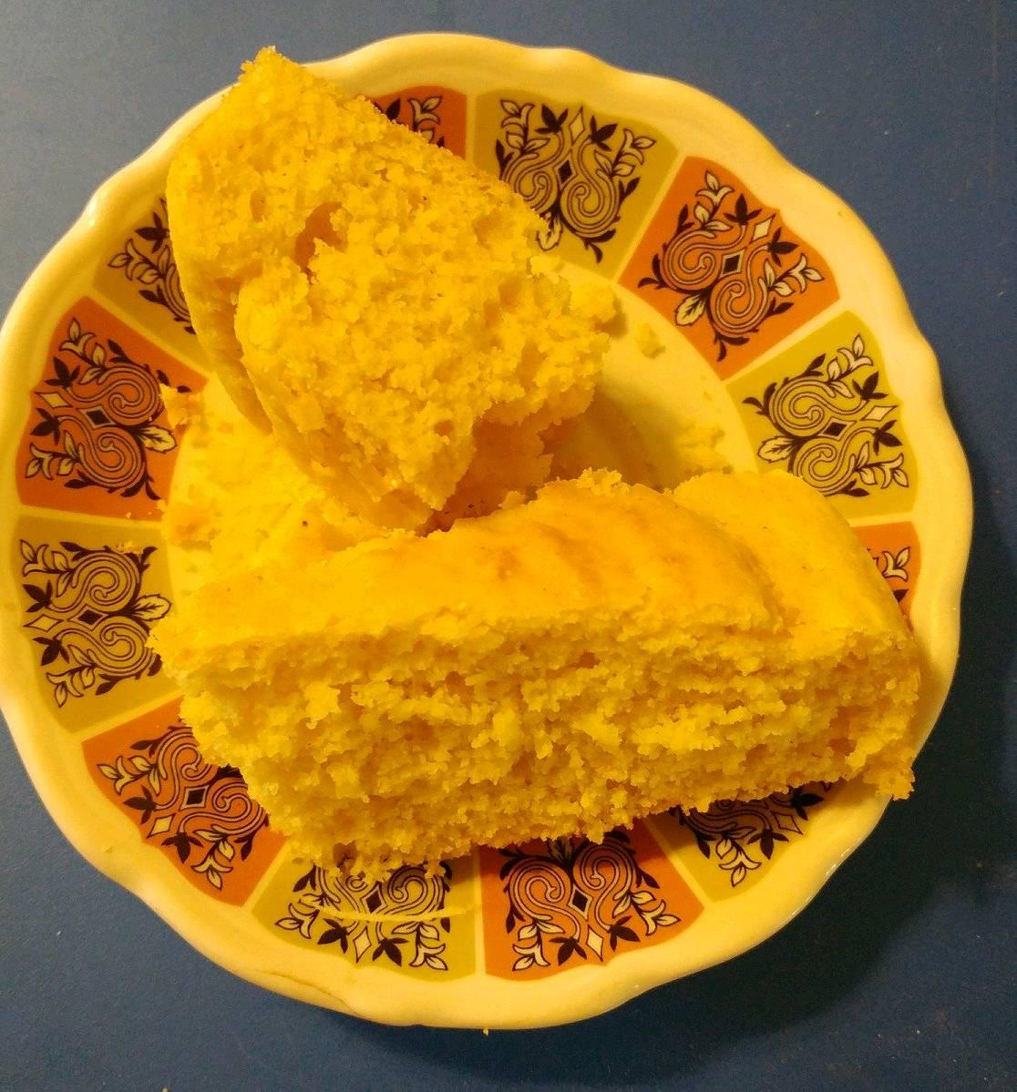 buttermilk cornbread on a saucer