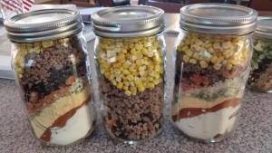 Supplies in a jar