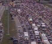 Evacuation traffic during Hurricane Rita