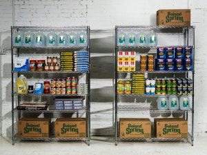 Food pantry for storing supplies