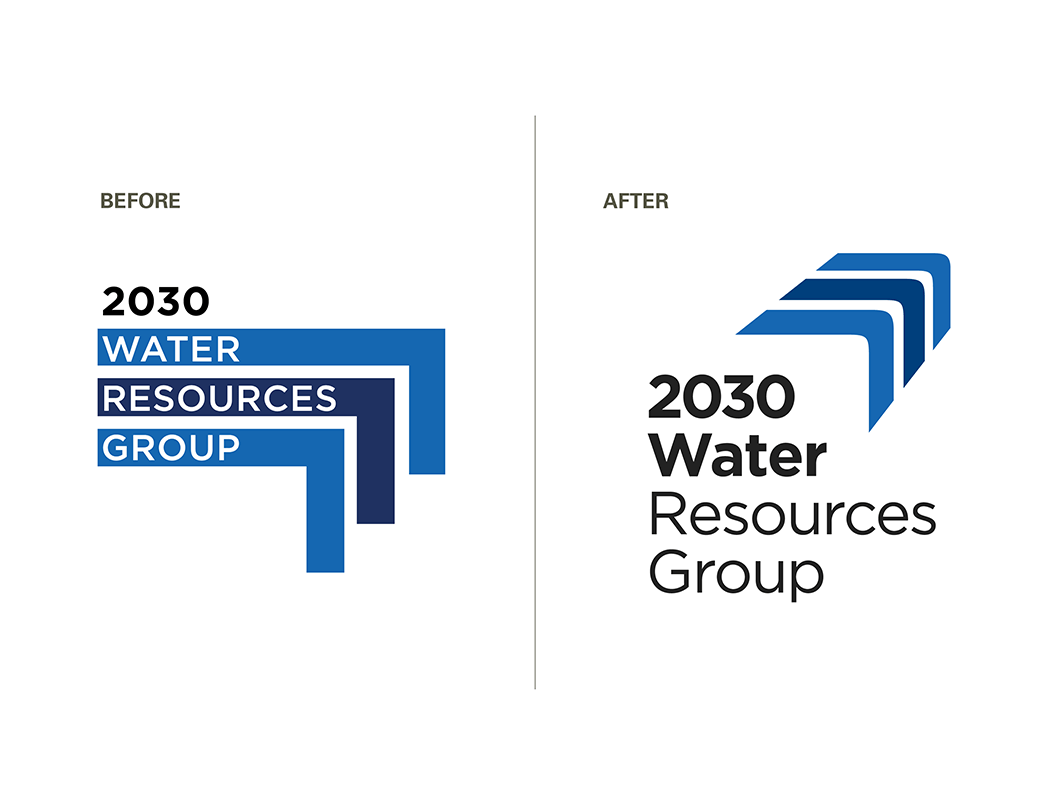 2030WRG logo before and after