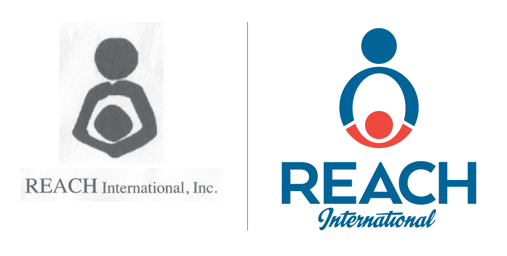 Logo before and after images