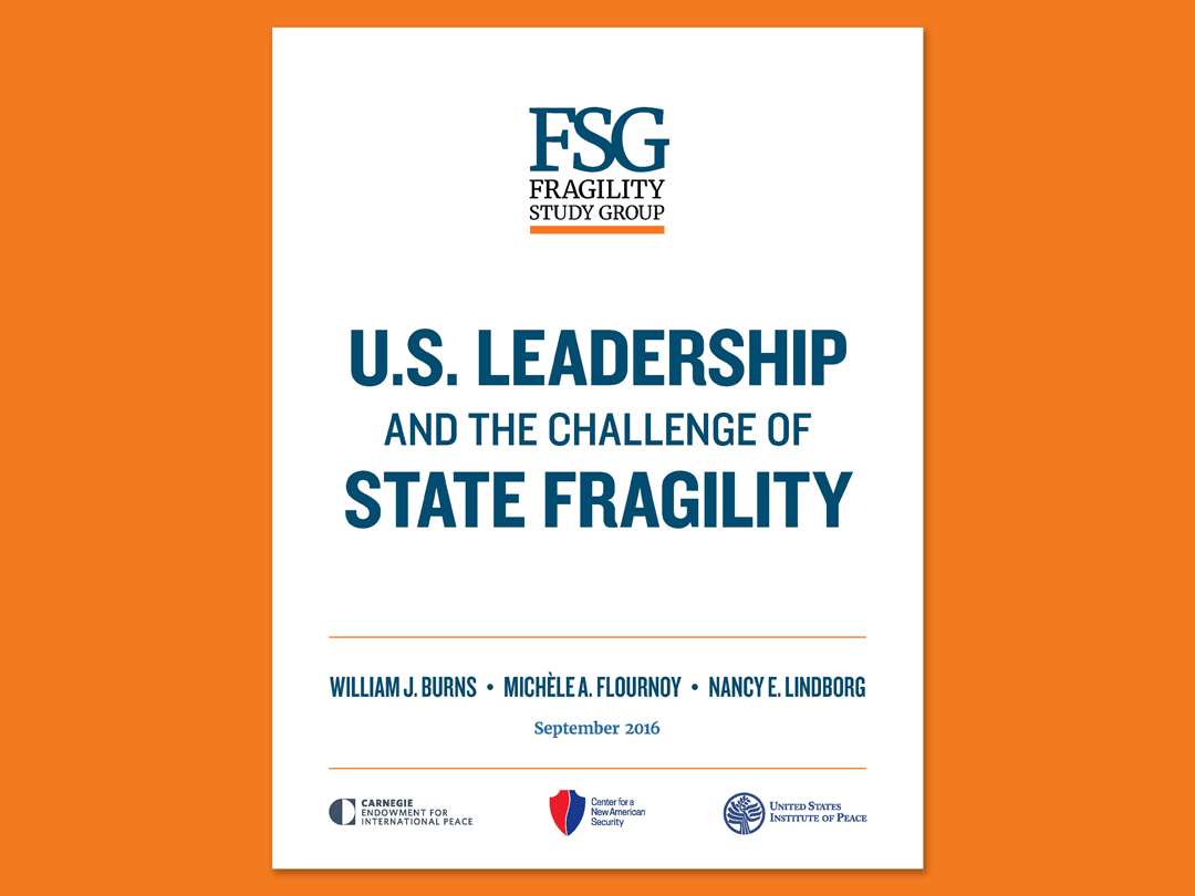 US Leadership and the Challenge of State Fragility report cover