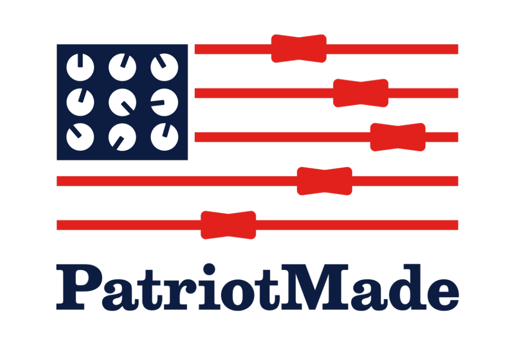 Logo design not used: Sliders and knobs forming US flag