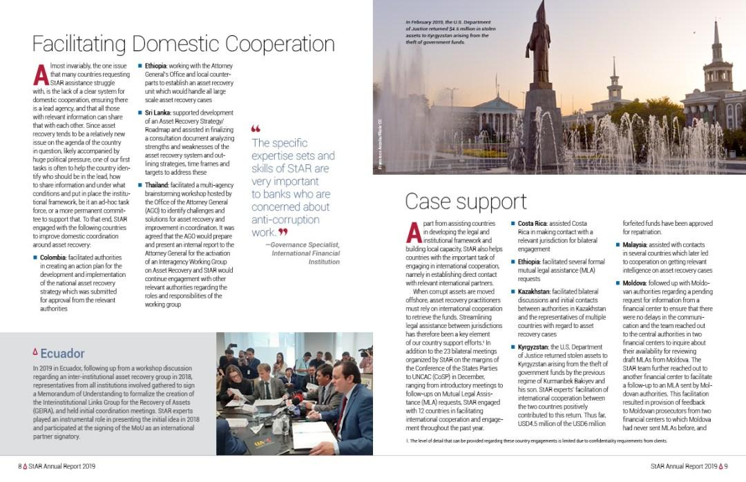 Interior spread: Facilitating Domestic Cooperation