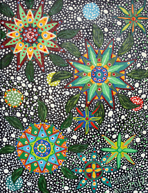 DMT is an ingredient in ayahuasca, a powerful hallucinogen whose users often produce art like this (Howard G Charing)
