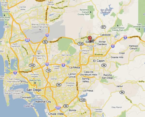 Santee Map