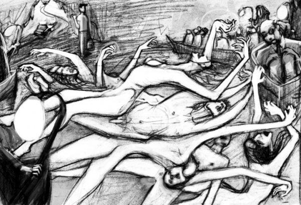 Hades drawing by Marina Loeb